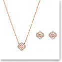 Swarovski Set Sparkling Dance Set Clover Crystal Rose Gold