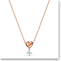 Swarovski Necklace Lifelong Heart Pendant Sol Crystal Rose Gold