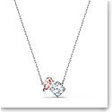 Swarovski Necklace Attract Soul Necklace Pink Crystal Rhodium Silver