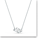 Swarovski Necklace Attract Soul Necklace Heart Crystal Rhodium Silver