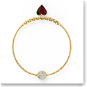 Swarovski Bracelet Remix Strand Red Heart Gold M