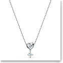 Swarovski Necklace Lifelong Heart Pendant Sol Crystal Rhodium Silver