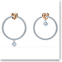 Swarovski Lifelong Heart Pierced Earrings Hoop Crystal Mix