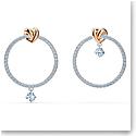 Swarovski Lifelong Heart Pierced Earrings Hoop Crystal Mix
