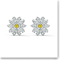 Swarovski Eternal Flower Pierced Earrings Stud Light Multi Rhodium Silver