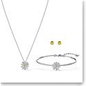 Swarovski Eternal Flower Necklace and Earrings Set Crystal Mix
