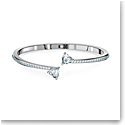 Swarovski Bracelet Attract Soul Bangle Heart Crystal Rhodium Silver M