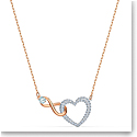 Swarovski Necklace Infinity Necklace Heart Infinity Crystal Rose Gold