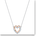 Swarovski Necklace Infinity Necklace Double Heart Crystal Mix