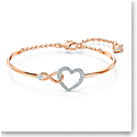 Swarovski Bracelet Infinity Bangle Heart Infinity Crystal Mix M