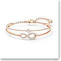 Swarovski Bracelet Infinity Bangle Chain Crystal Rose Gold M