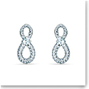 Swarovski Infinity Pierced Earrings Mini Crystal Rhodium Silver