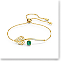 Swarovski Emerald Crystal and Gold Tropical Bracelet