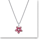 Swarovski Necklace Tropical Pendant Flower Light Multi Rhodium Silver