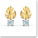 Swarovski Tropical Pierced Earrings Gold