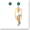 Swarovski Tropical Pierced Earrings Parrot Small Light Multi Gold