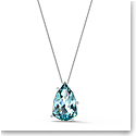 Swarovski Necklace Sunny Pendant Long Dark Multi Rhodium Silver