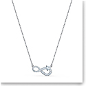 Swarovski Crystal and Rhodium Silver Infinity Heart Necklace