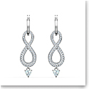 Swarovski Infinity Pierced Earrings Crystal Rhodium Silver