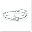 Swarovski Bracelet Infinity Bangle Chain Crystal Rhodium Silver M