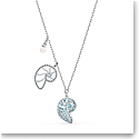 Swarovski Necklace Shell Pendant Nautilus Crystal Rhodium Silver