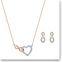 Swarovski Set Infinity Set Heart Infinity Crystal Rose Gold