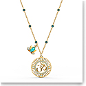 Swarovski Necklace Symbol Pendant Lotus Ohm Light Multi Gold
