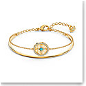 Swarovski Bracelet Symbol Bangle Mandala Gold M