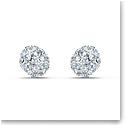 Swarovski So Cool Pierced Earrings Stud Crystal Rhodium Silver