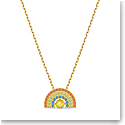 Swarovski Necklace Sparkling Dance Necklace Rainbow Light Multi Gold