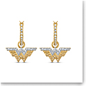 Swarovski Warner Bros. Fit WW Pierced Earrings Hoop Crystal Mix
