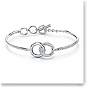 Swarovski Bracelet Stone Bangle Chain Crystal Rhodium Silver M