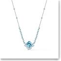 Swarovski Necklace Sparkling Necklace Aqua Rhodium Silver