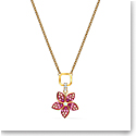 Swarovski Necklace Tropical Pendant Flower Light Multi Gold