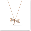 Swarovski Necklace Eternal Flower Necklace Long Light Multi Rose Gold