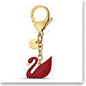 Swarovski Small Accessories Swan Bag Charm Red Gold