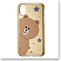 Swarovski Mobile Phone Case Line Friends iPhone X Case Multi Brown