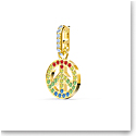 Swarovski Charm Remix Charm Peace Dark Multi Gold