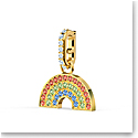 Swarovski Charm Remix Charm Rainbow Dark Multi Gold