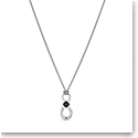 Swarovski Men's Necklace Infinity Pendant Jet Rhodium Silver