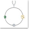 Swarovski Bracelet Remix Strand Wishbone Crystal Rhodium Silver M