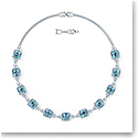 Swarovski Necklace Sparkling All-Around Altern Aqua Rhodium Silver
