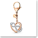 Swarovski Small Accessories Infinite Bag Charm Multi Rose Gold