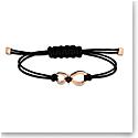 Swarovski Bracelet Infinity Cord Jet Rose Gold M