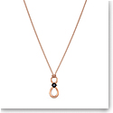 Swarovski Men's Necklace Infinity Pendant 1 Jet Rose Gold