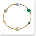 Swarovski Bracelet Remix Strand Pop Dark Multi Gold M