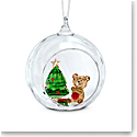 Swarovski Ball Ornament, Christmas Scene