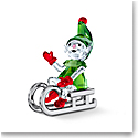 Swarovski Santas Elf On Sleigh