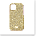 Swarovski Mobile Phone Case High iPhone 11 Pro Case Gold Stainless Steel Shiny Gold