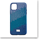 Swarovski Mobile Phone Case Crystalgram iPhone 11 Pro Max Case Blue Anniversary